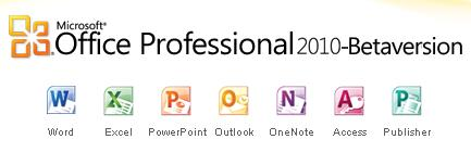 office professional 2010 betaversion