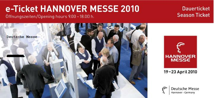 Hannover Messe Ticket