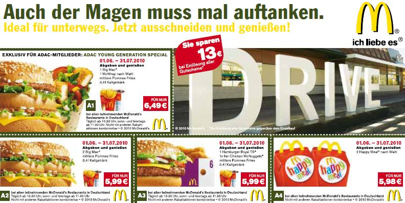 neue mcdonalds und burger king gutscheine juni juli 2010. Black Bedroom Furniture Sets. Home Design Ideas