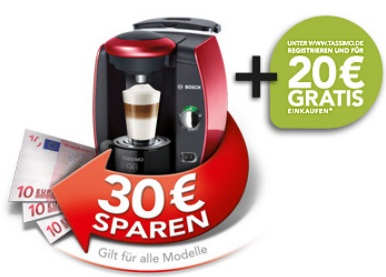 30 tassimo cashback aktion 20 tassimo gutschein gratis update. Black Bedroom Furniture Sets. Home Design Ideas