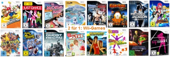 amazon 2 wii games kaufen nur 1 bezahlen z b mario sports mix und runaway 2 the dream of. Black Bedroom Furniture Sets. Home Design Ideas