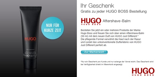 hugo boss gratis