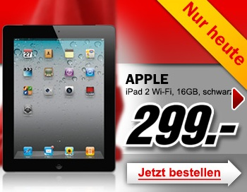 apple ipad 2 16gb wifi f r 299chf 249 bei media markt. Black Bedroom Furniture Sets. Home Design Ideas