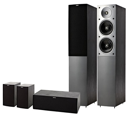 sale jamo e850 floorstanding speakers cherry evolvestar. Black Bedroom Furniture Sets. Home Design Ideas