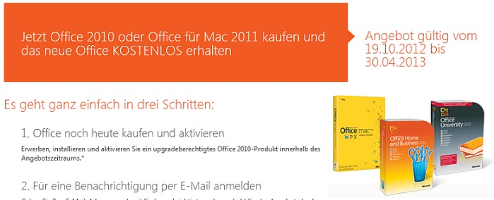 microsoft office 2010 oder office 2011 for mac kaufen und kostenlos ein upgrade auf office 2013. Black Bedroom Furniture Sets. Home Design Ideas