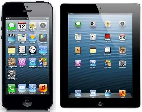 iPhone 5 Apple iPad 4