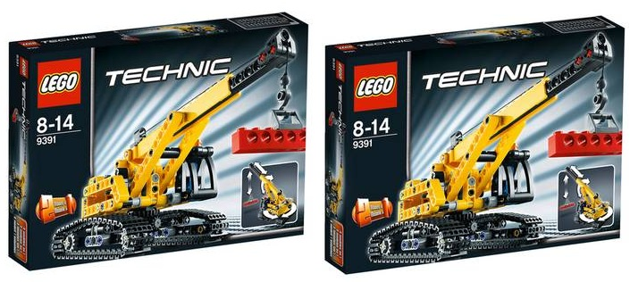 2x lego technic raupenkran 9391 f r 20 98. Black Bedroom Furniture Sets. Home Design Ideas