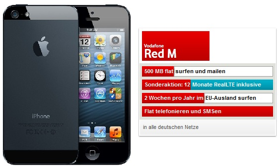 Vodafone RED M iPHone 5