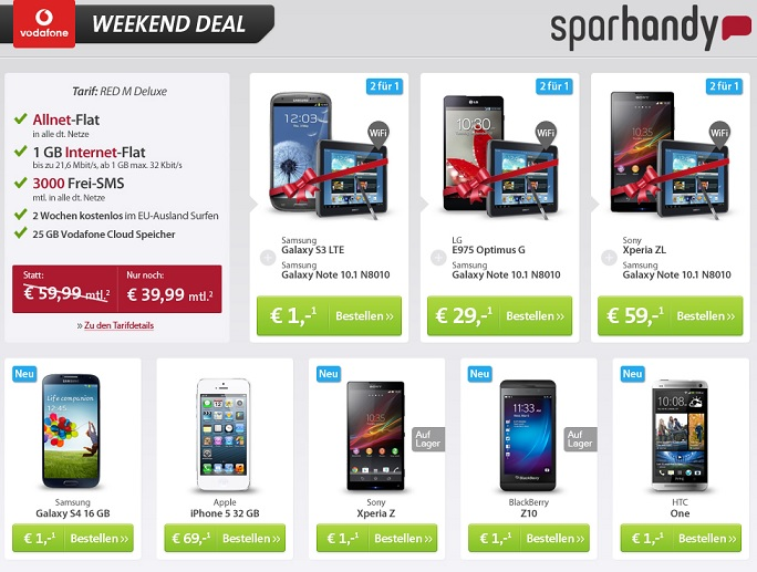 sparhandy weekend deal