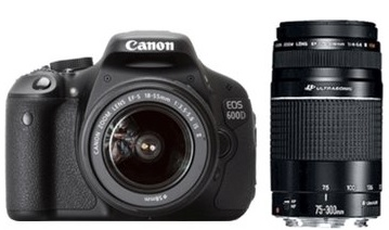 Canon EOS 600D Kit 18-55 mm + 75-300 mm