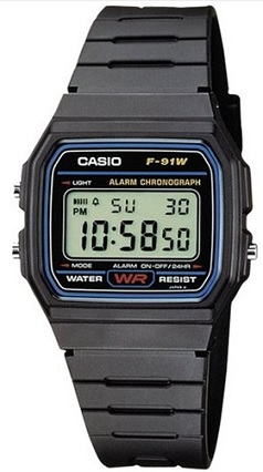 Casio Collection Herren-Armbanduhr Digital Quarz F-91W-1YEF