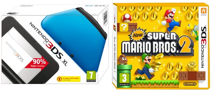 Nintendo 3DS XL inkl. New Super Mario Bros 2