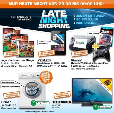 Saturn Late Night Shopping Angebote vorschau