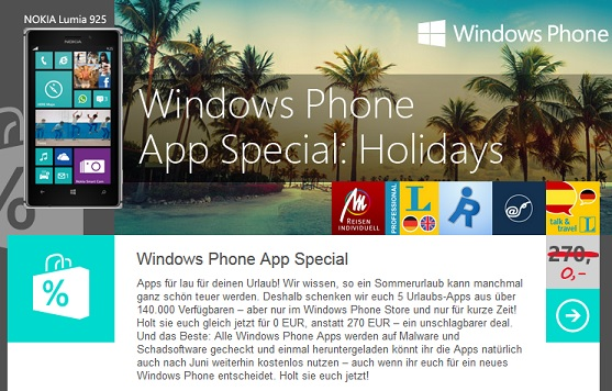 Windows Phone App special