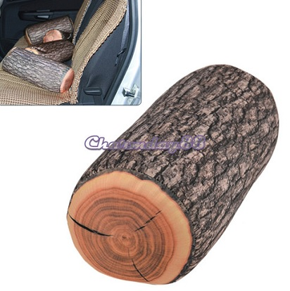 New Natural Cylinder Wood Design log Pillow Soft Cushion Toy Gift for Home C1MY