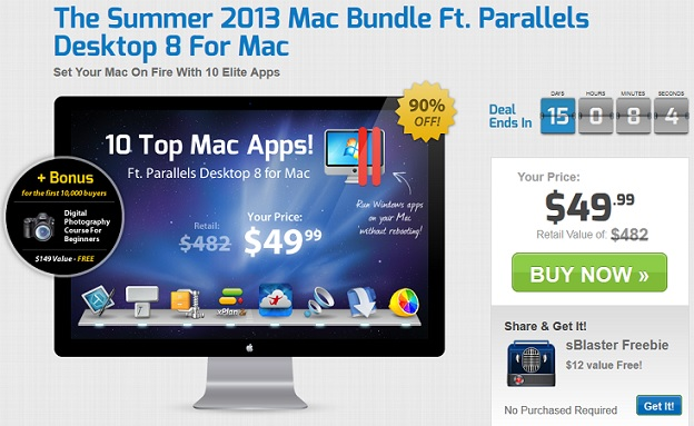 The Summer 2013 Mac Bundle Ft. Parallels Desktop 8 For Mac