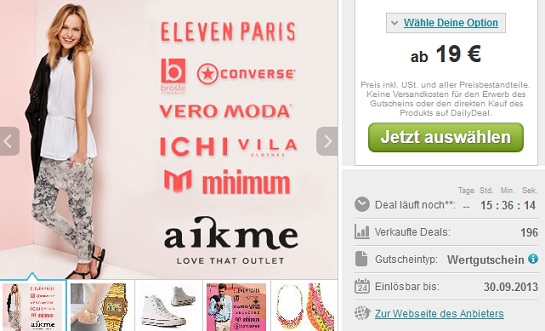 Top-Marken-Mode zu Outletpreisen