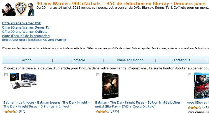 bluray aktion amazon frankreich