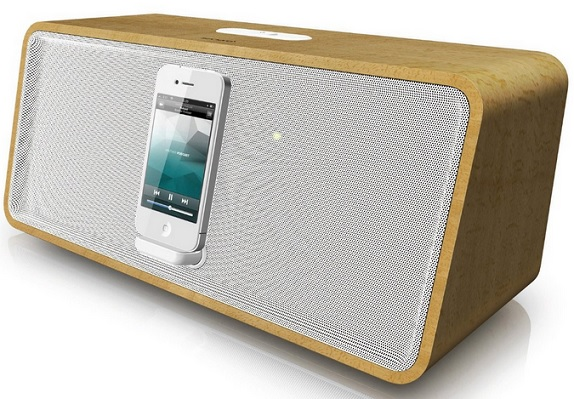 sonoro Stereo iPod iPhone Docking Station cuboDock bambus