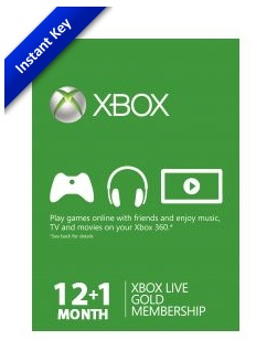xbox live gold instant key