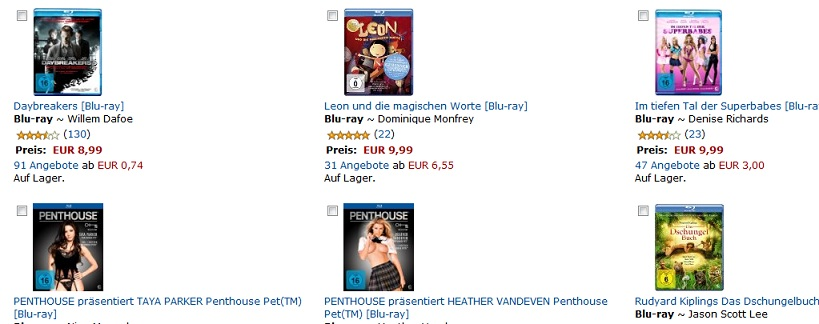 bluray aktion amazon august