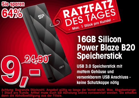 16GB - USB3 - Silicon Power Blaze B20