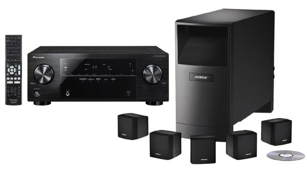 heimkino set pioneer vsx 422 receiver bose acoustimass. Black Bedroom Furniture Sets. Home Design Ideas