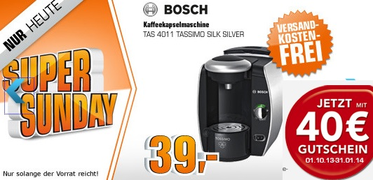 super sunday bosch tassimo