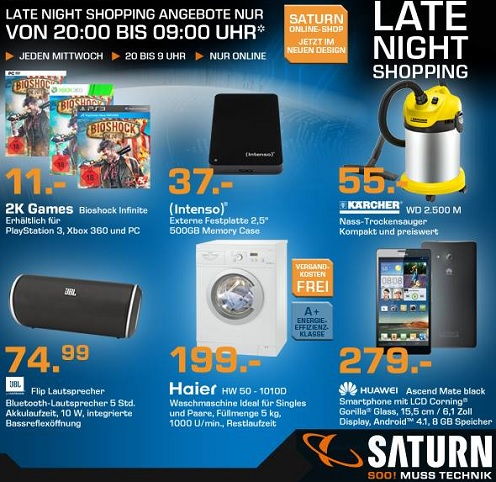 Saturn Late Night Shopping Angebote