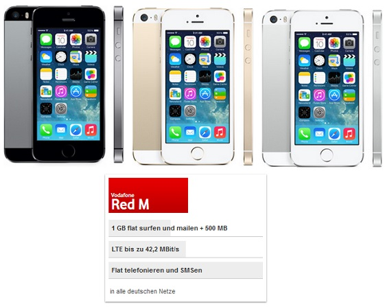 Vodafone RED M mit Apple iPhone 5S 16GB