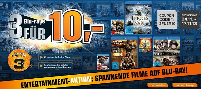 3 Bluray fuer 10 EUR