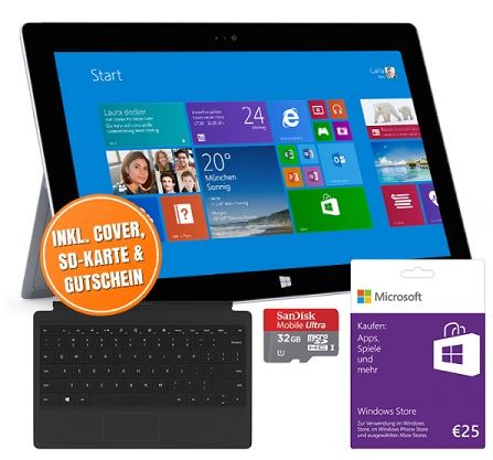 microsoft surface 2 32gb wifi inkl type cover f r 341 10 6 windows 8 1 rt tablet update4. Black Bedroom Furniture Sets. Home Design Ideas