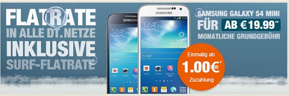 Samsung Galaxy S4 Mini im o2 Blue All-in M