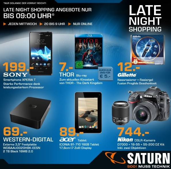 saturn late night shopping