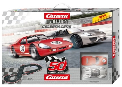 Carrera Evolution Rennbahn Celebracers 50 Jahre Set