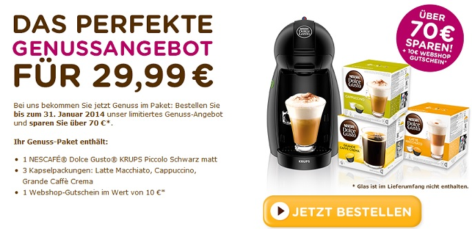 krups nescafe dolce gusto piccolo kp 1000 32 kapseln 10 gutschein f r 29 99 update. Black Bedroom Furniture Sets. Home Design Ideas