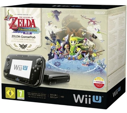 Nintendo Wii U Premium Pack 32 GB + Legend of Zelda Wind Waker HD