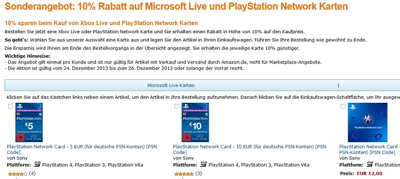 amazon MSL PSN
