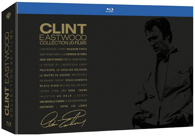 Clint Eastwood - Collection 20 films bluray