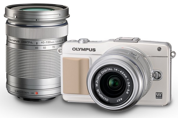 Olympus E PM2 16MP Compact System Camera with 14 42mm and 40 150mm Two Lens Kit