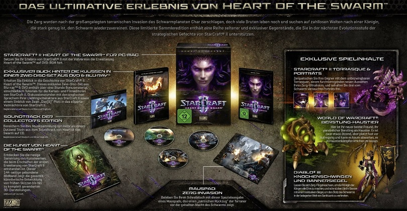 StarCraft II Heart of the Swarm Collectors Edition