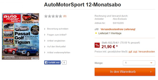 AutoMotorSport 12 Monate