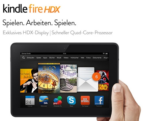 Das neue Kindle Fire HDX 7-Tablet