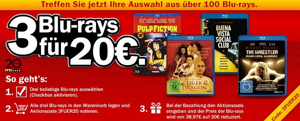 3 Blurays media markt aktion
