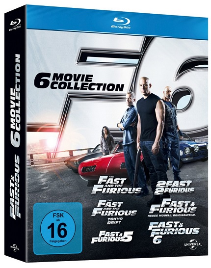 Fast and Furios Bluray box