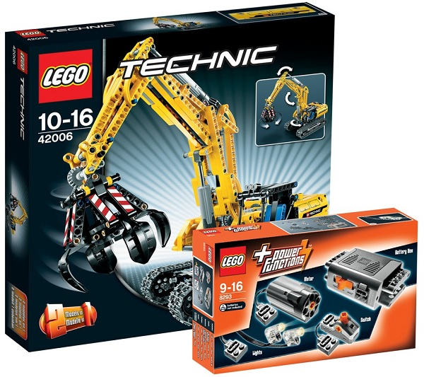 Lego Technic Raupenbagger + Lego Power Functions Tuning-Set