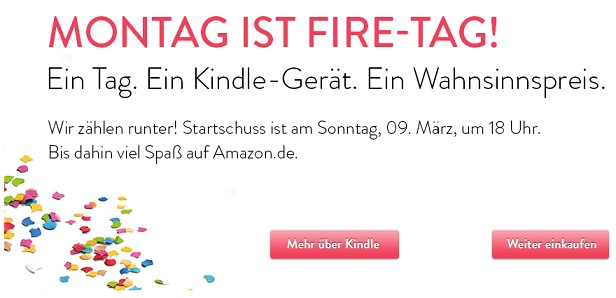 Montag ist Fire Tag