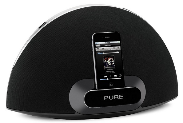 Pure Contour 200i Air Wireless Digital Music System mit AirPlay und Dock für Apple