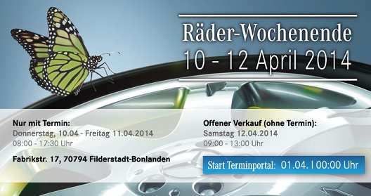 Raeder Wochenende April