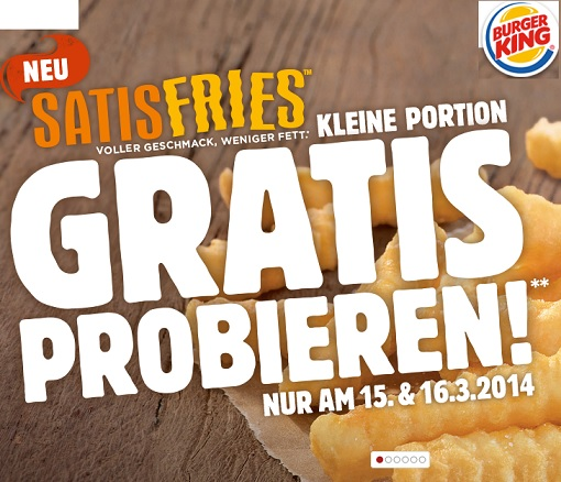 gratis pommes burger king